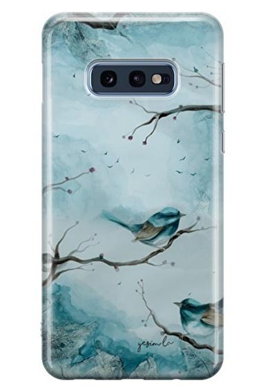 Lopard Samsung Galaxy S10E Kılıf Mavi Kuş Kapak Renkli